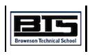 Brownson Technical School logo