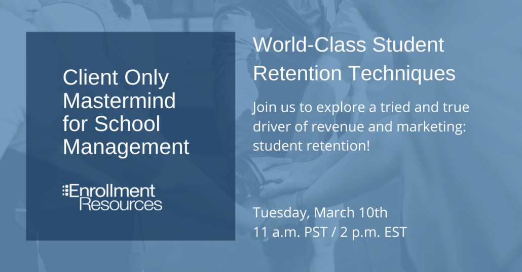 March 2020 Client Only Mastermind from Enrollment Resources